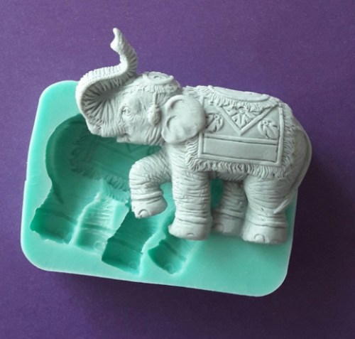 Indian elephant silicone mould